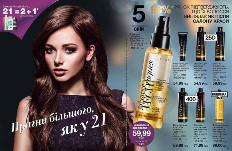 Акция AVON Украина 21 год красоты