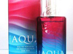 Avon Aqua для нее в стильной упаковке красно-синего цвета
