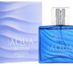 Демонстрация упаковки и флакона Aqua Intense