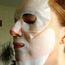 Тканевая маска для лица SPA Сияющее золото