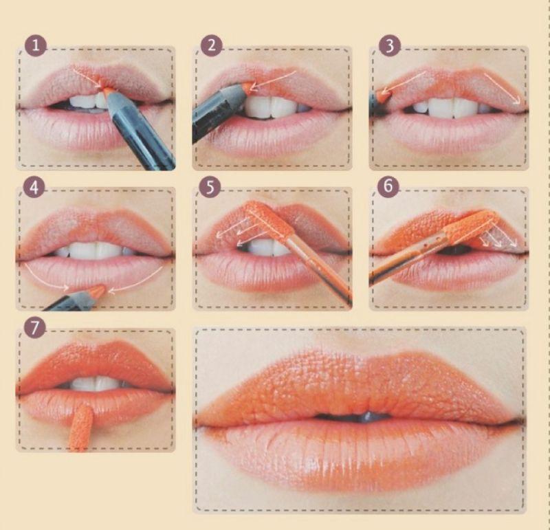 инструкция как красить губы