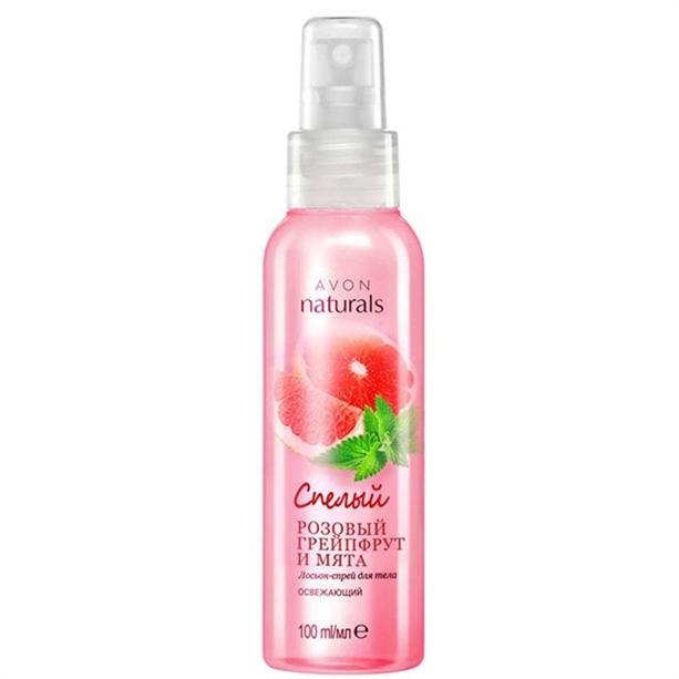 Лосьон-спрей для тела Avon Naturals «Спелый розовый грейпфрут и мята»