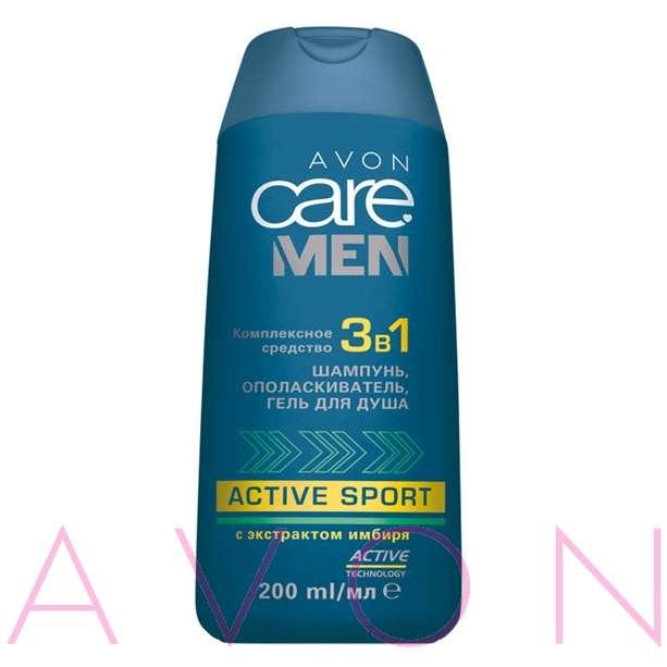Средство для волос 3 в 1 AVON Care Men Active Sport